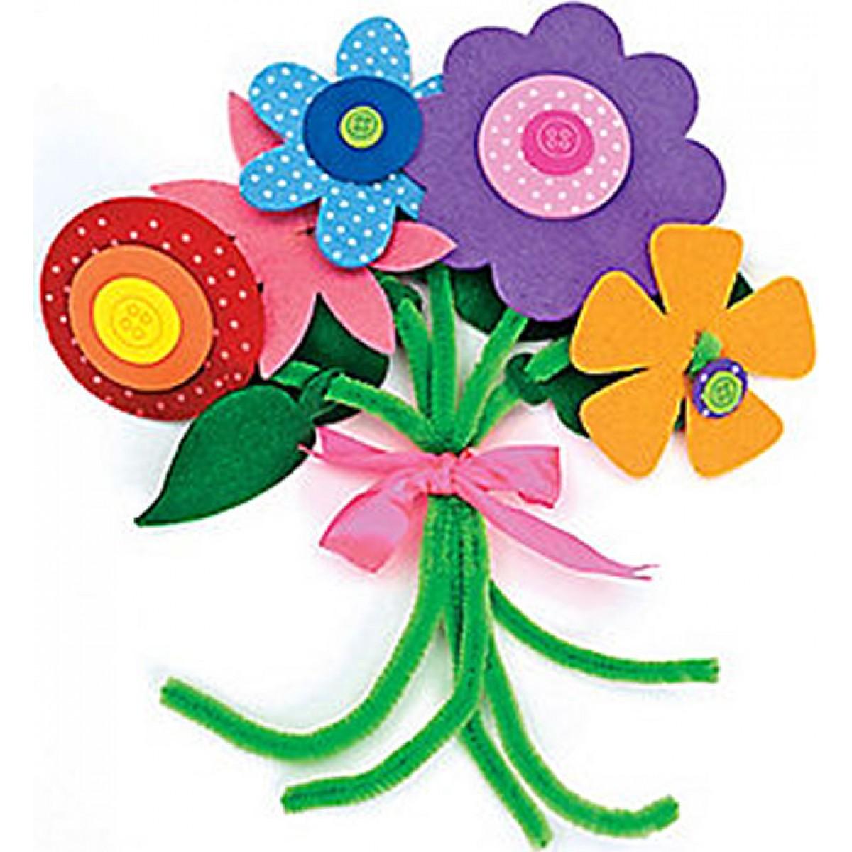 Fun Express In 486520 Felt Flower Bouquet Craft Kit The Craft