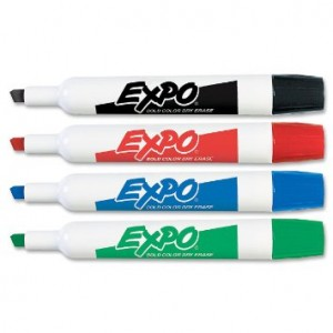 EXPO Low Odor Dry Erase Markers- 12/pk