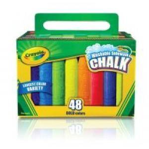 Crayola Sidewalk Chalk, 48/pk Bucket