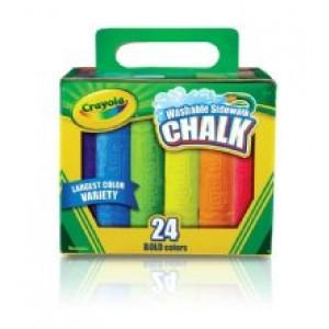 Crayola© Sidewalk Chalk, 24/pk Bucket