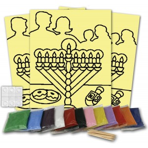 Chanuka Celebration Sand Art Boards And Kits