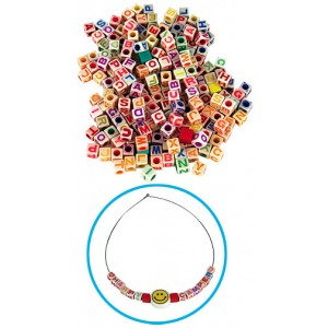 ABC Beads, 160/pack