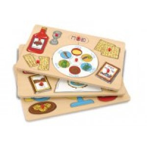 Wood Judaica Puzzles with Box