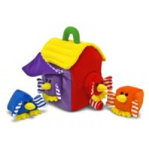Plush Bird House Shape Sorter