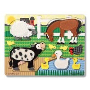 Touch & Feel Puzzles- Farm Animals