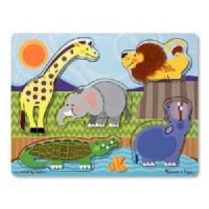 Touch & Feel Puzzles- Zoo Animals