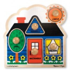 Jumbo Knob Puzzles- House