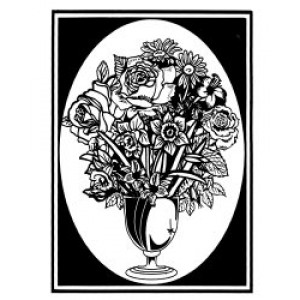 Velvet Art- Flower Vase