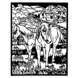 Velvet Art- Horses