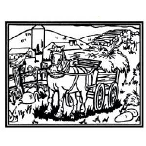 Velvet Art- Horse & Buggy
