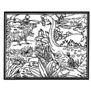 Velvet Art- Dinosaur