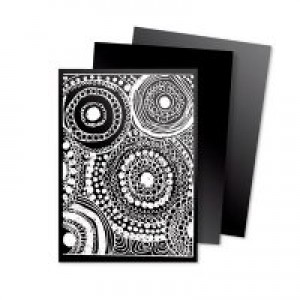 Scratch Art Cards- Black & White