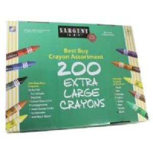 Sargent Extra Large Crayons-Classpack