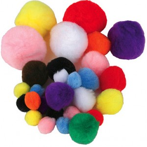 Pom Poms – Asst. Sizes, 300/pk.