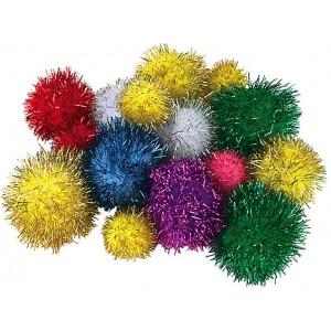 "Glitter Pom Poms – 1/2"", 80/pk."