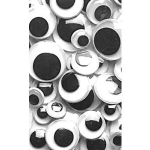 Wiggly Eyes – Black, 100/pk.