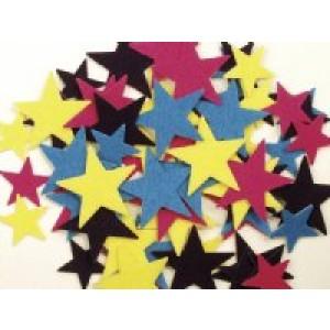 Stars Felt Sticky Shapes
