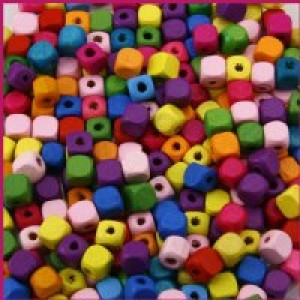 Wood Square Beads