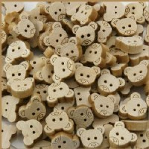 Wood Teddy Button