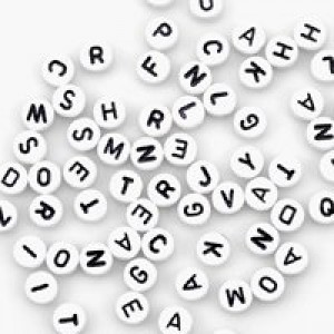 Alpha Beads- White
