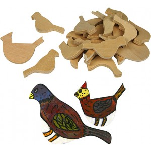 Wood Birds, Assorted Sizes