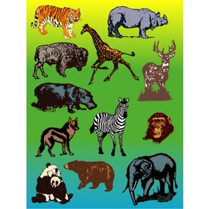 Stickers – Wild Animals, 25 sheets