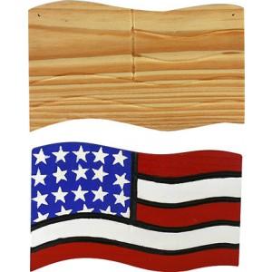 """Engraved Flag Door Hanger, 6"""""""