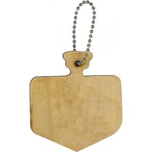Wood Dreidel Keychain