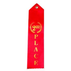 Red Second Place Ribbons