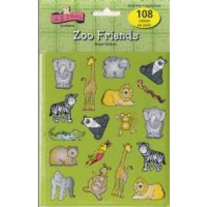 Shapes Stickers- Zoo Friends