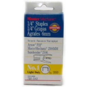 "Plier Type Staples 1/4"" - 1050/pk"
