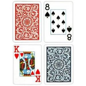 Jumbo Poker Cards - Blue