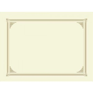 Certificate Covers-Ivory 3/PK