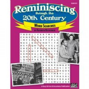 Reminiscing 20th Century Word Search