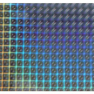 Holographic Posterboard - Plaid Silver
