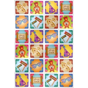 Purim Mitzvah Stickers