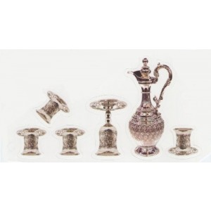 5 Cups, Eliyahu's Cup & Decanter- no stem
