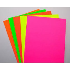 67lb Neon Tag Paper- Choice of Colors