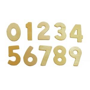 Complete Wood Numbers Set
