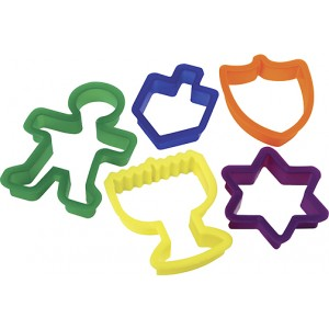 Shulsinger Chanukah Cookie Cutters, 5/pk