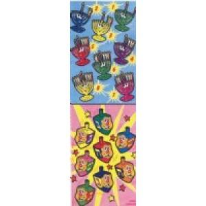 Menorah & Dreidel Stickers
