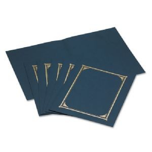 Certificate Covers-Navy 3/PK