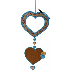 Wood Hanging Heart Pcture Frame