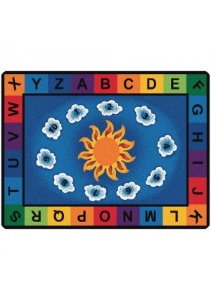 Sunny Days Alphabet Rug-Rectangle