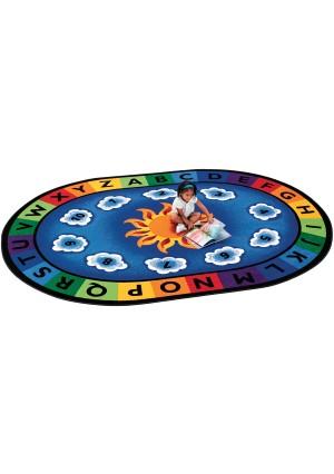 Sunny Days Alphabet Rug-Oval